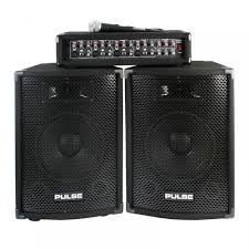 sound system kit. pmh200kit 200w dj pa system kit package speakers \u0026amp; amplifier + mic/leads sound