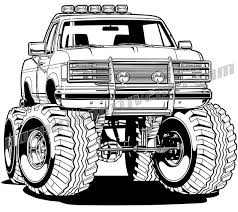 1996 ford f-150 4x4 pickup truck vector clip art, buy two images get ...