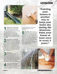 Small Picture Tips to prevent homes from Monsoon Rain Social Diary