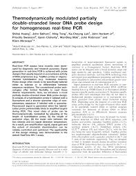 Thermodynamically modulated partially double-stranded linear DNA probe  design for homogeneous real-time PCR – topic of research paper in  Biological sciences. Download scholarly article PDF and read for free on  CyberLeninka open science