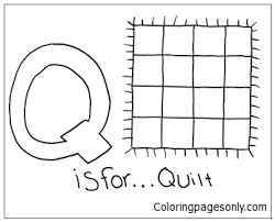 A great way to do this for children of all ages and many adults is to do some coloring in. Letter Q Is For Quilt Coloring Page Free Coloring Pages Online
