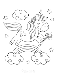 For this purpose you only need to download or print specially prepared coloring pages with the image of rainbow. 75 Magical Unicorn Coloring Pages For Kids Adults Free Printables