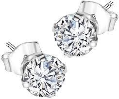 <b>GW</b> Clarissa Jewellery <b>925</b> Sterling <b>Silver</b> Stud Earrings For Women ...