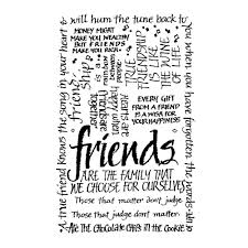 crafty individuals ci 052 friends calligraphy art rubber stamp