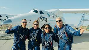 Virgin Galactic and Richard Branson celebrate launch of first passengers  into space