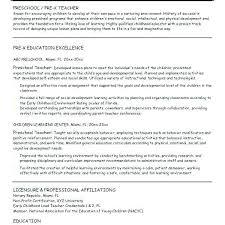 Resume For Preschool Teacher Sample Resume For Preschool Teacher