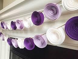 White Paper Flower Garland Amazon Com One 4ft Paper Flower Garland Purple White Lilac