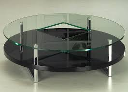 Outdoor Round Black Glass Coffee Table Set