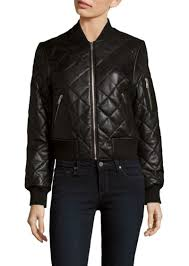 7 for all mankind quilted leather baseball collar jacket
