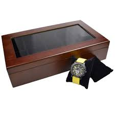 Ikee Design Watch Box Ikee Design Wooden Watch Box For 10 Watches Buy Online In