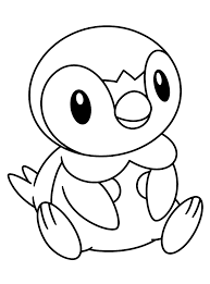Piplup Coloring Page Coloring Home