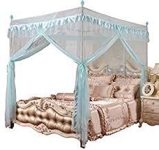 Amazon.com: Mengersi 4 Corners Post Bed Canopy Curtains Mosquito Net ...