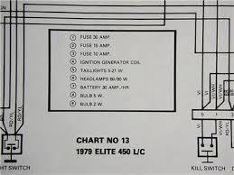 Details About Original 1979 Bombardier Ski Doo Elite 450 L C Electrical Schematic Chart 13