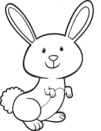 Cute Bunny Coloring Pages For Kids Coloringstar