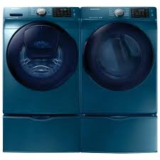 samsung washer and dryer lowes. Samsung Blue Washer Cu Ft He Front Load Electric Steam Dryer Sapphire . And Lowes L