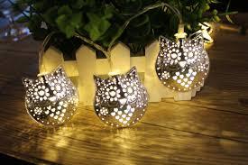 1 x 1.8M 10 LED Metal Owl String Lights