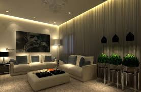 best high ceiling living room interior design with nice lighting fixtures and long curtains