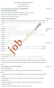 Examples Of College Graduate Resumes Tomyumtumweb Com