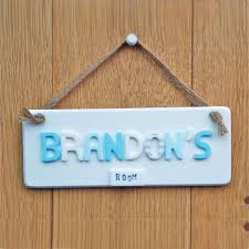 bedroom door signs bedroom door plaque with hanging cord 10415