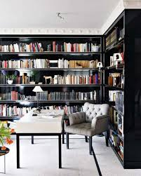 Furniture: Small Home Library With Ladder - Home Library
