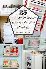 Ikea Kitchen Spice Rack Remodelaholic 25 Ways To Use Ikea Bekvam Spice Racks At Home
