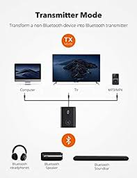 TaoTronics <b>Bluetooth 5.0</b> Transmitter and Receiver, 2-in-1 Wireless ...