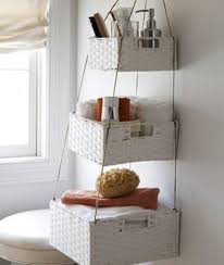 bathroom wall hanging baskets storage hang on intended for plan 5