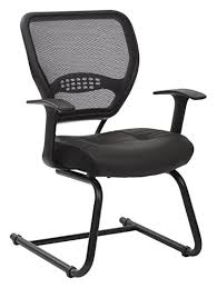 office star professional air grid deluxe task chair. SPACE Seating Professional AirGrid Dark Back And Padded Black Eco Leather Seat, Fixed Arms Lumbar Support Sled Base Visitors Chair Breathable Air Grid Office Star Deluxe Task