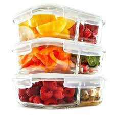 food glass containers 2 compartment glass meal prep food storage containers with lids 3 oz glass food glass containers