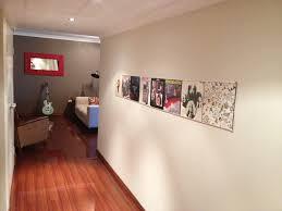 Vinyl records wall display