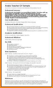 Cv For Teacher Arabic Teacher Resume C V Teacher Arabic Teacher Resume Format