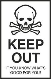 Lovely KEEP OUT Funny Bedroom Door Sign 200x300mm Rigid Plastic Or Self