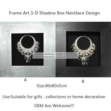silver nacklace 3d shadow box ua5748 wall art decoration images