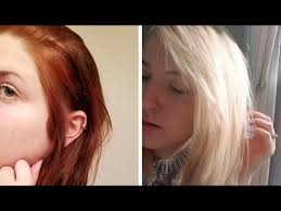 reddish brown hair to light blonde 3