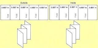 Quad Fold Brochure Template Word 4 Fold Brochure Template Word Free Templates For Roll 5 Panel