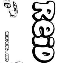 reid name. reid - coloring page name pages boys boys names name