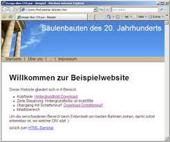 Beispielwebsite mit 1-Spalten-Layout Schritt für Schritt aufbauen