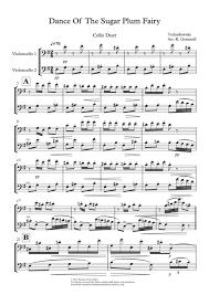 dance of the sugar plum fairy sheet music download dance of the sugar plum fairy cello duet sheet music by