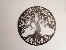 smart design tree of life wall decor small home decoration ideas antique look metal art zoom