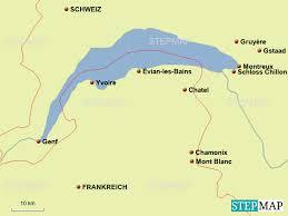 Der genfer see liegt entlang der stadt und ist einer der größten seen europas. Stepmap Genfer See Landkarte Fur Europa