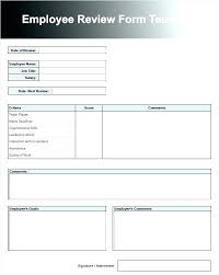 Performance Appraisal Sample Form Free Performance Evaluation Form Template Customer Feedback