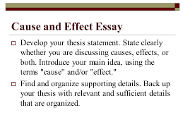 types of essays lane definition essay  three steps to  cause and effect essay  develop your thesis statement