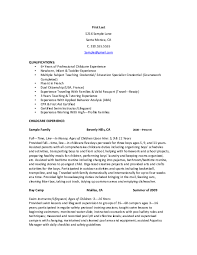 Professional Nanny Resume Sample Nanny Resume Samples Download Free Templates In Pdf And Word