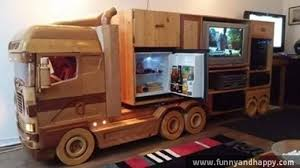 funny furniture. wooden furniture like a truck funny