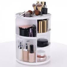 Fashion 360 Degree Rotating Round Makeup Storage Rack