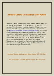 american general insurance phone number aig quick quote