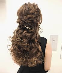 美容師さんにそのまま見せる用ハーフアップの可愛いお呼ばれヘア