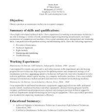 Maintenance Technician Resume Sample Electrical Technician Resume ...