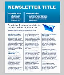 Free Download Newsletter Templates Free Company Newsletter Template 50 Free Newsletter Templates For