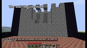 how to make a stone fence in minecraft. Minecraft Self-Building Wall (Pistons) How To Make A Stone Fence In
